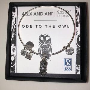 NWT Alex and Ani Owl bracelet
